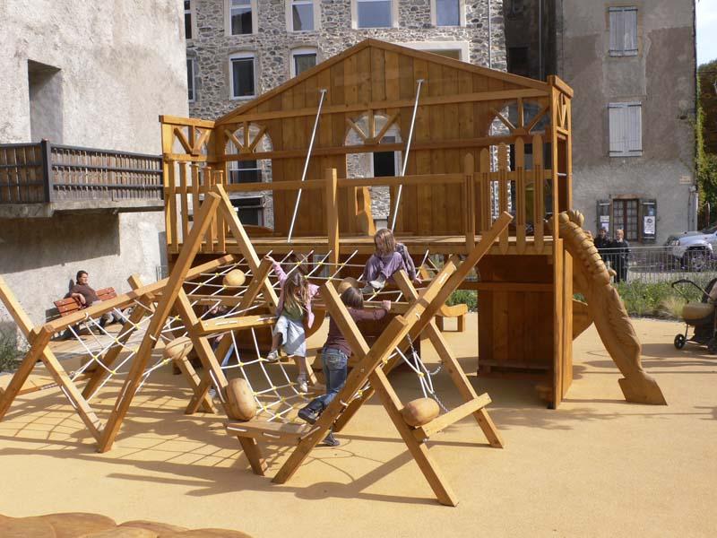 aire de jeux p dagogique sur th me ver soie en bois d 39 ext rieur pour parcs jardins publics. Black Bedroom Furniture Sets. Home Design Ideas